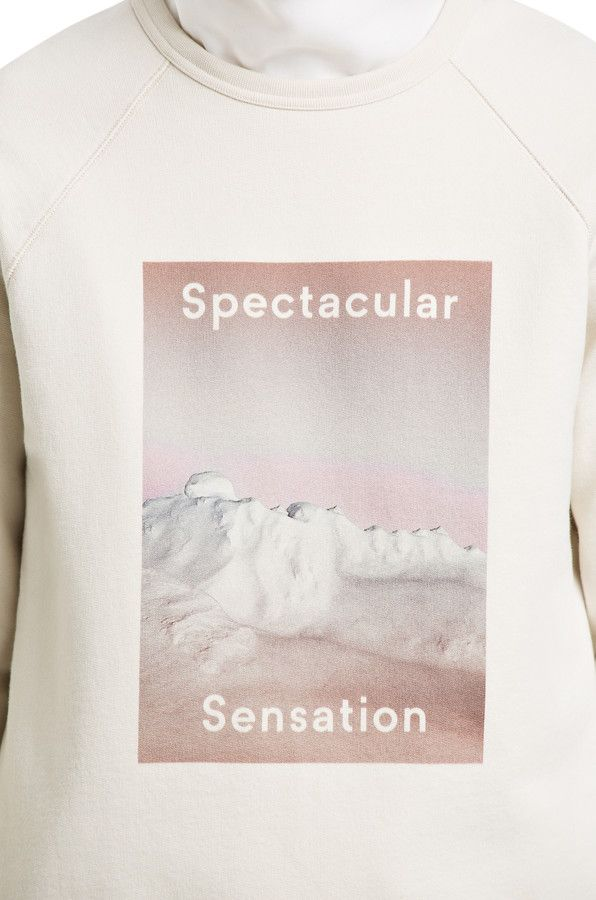 College Photo Off White #sweatshirt #AcneStudios #menswear #PreFall2014