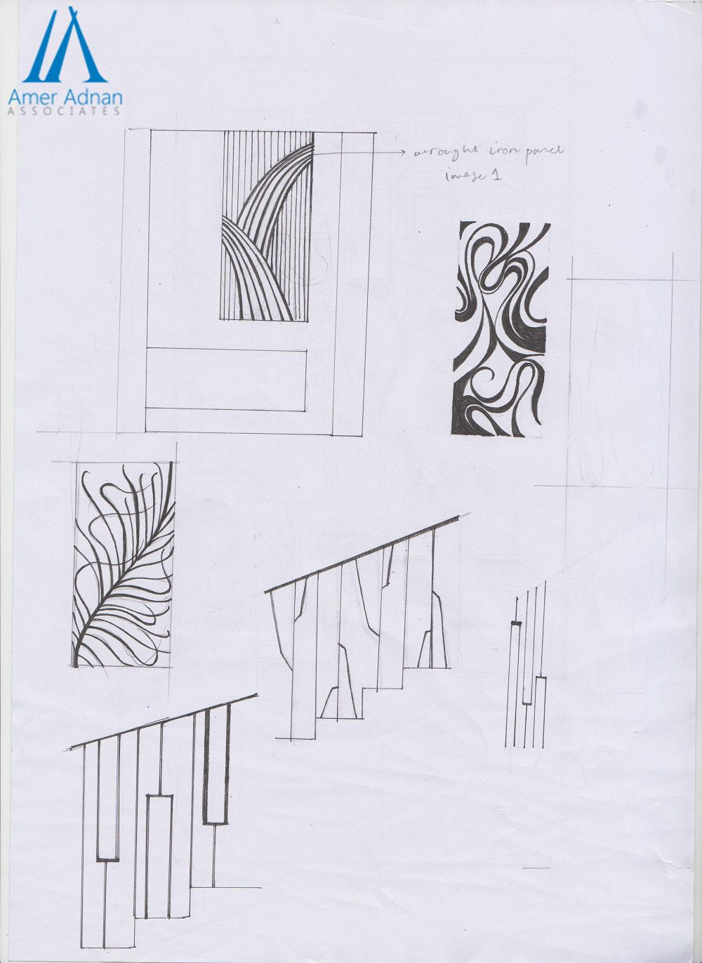 Tremendous wrought iron panels and grill sketches for your dream ...