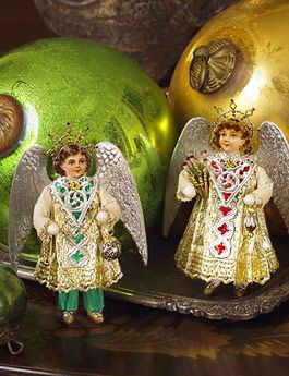 Christmas Shop: Terence and Stephanie Christmas Angel Cotton Batting Ornaments on Blumchen.com