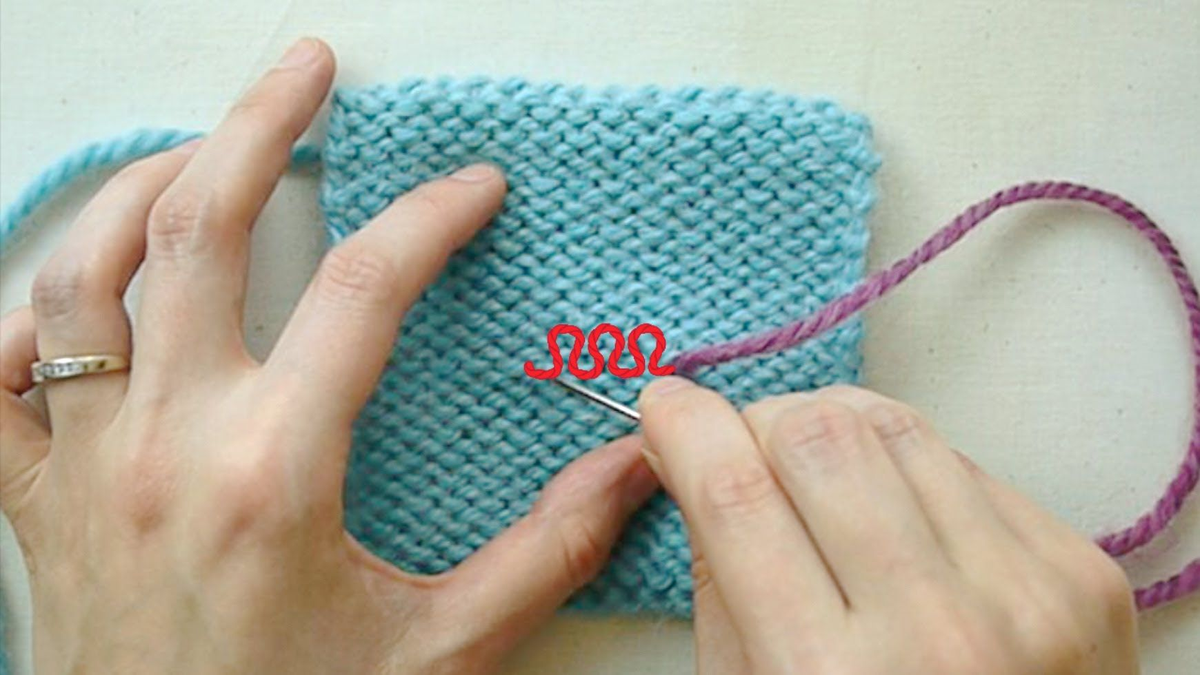 Weaving In Ends on Hand Knits Knitting techniques