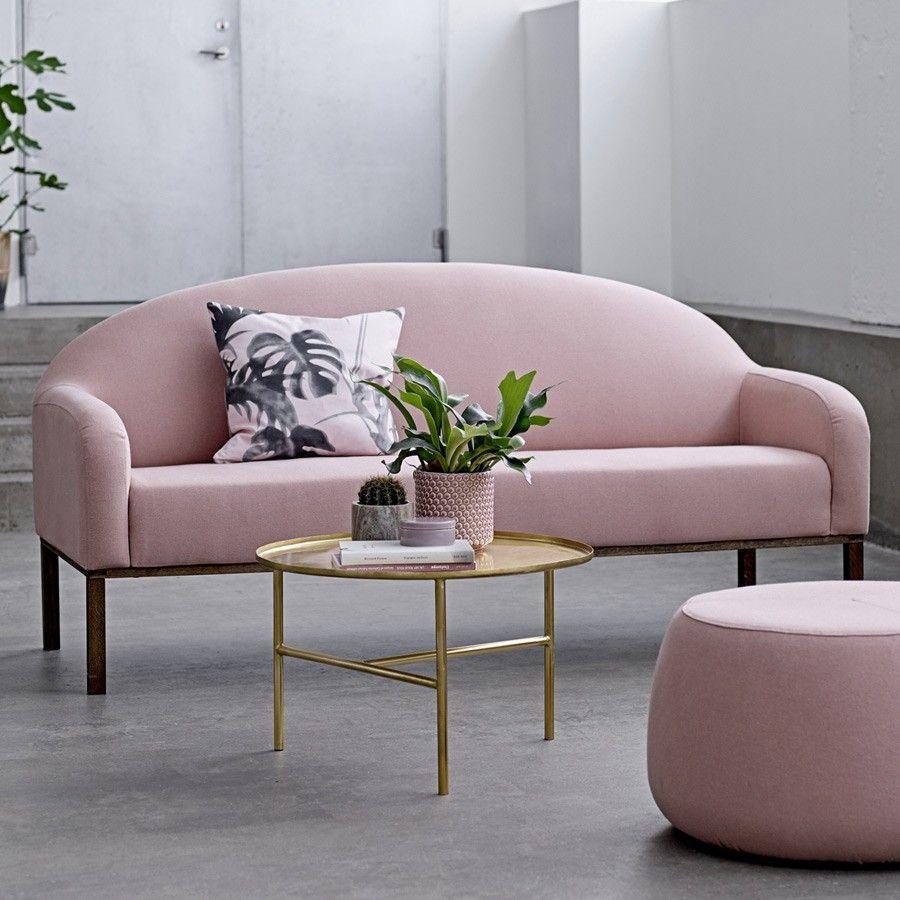 bloomingville - beistelltisch pretty, goldfarben, Ø 65cm| schÖner, Moderne