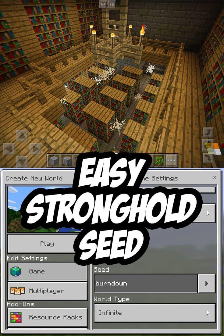 Easy Minecraft PE Stronghold Seed: burndown | Minecraft PE Seeds