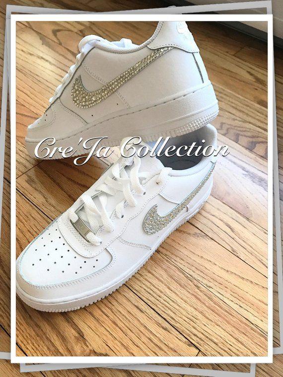 Bling Air Force Ones, Bling Nike, Custom Nike Shoes, Custom