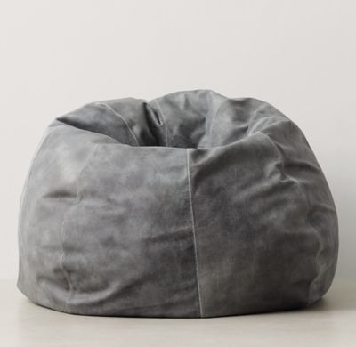 Oversized Leather Bean Bag Leather bean bag, Leather