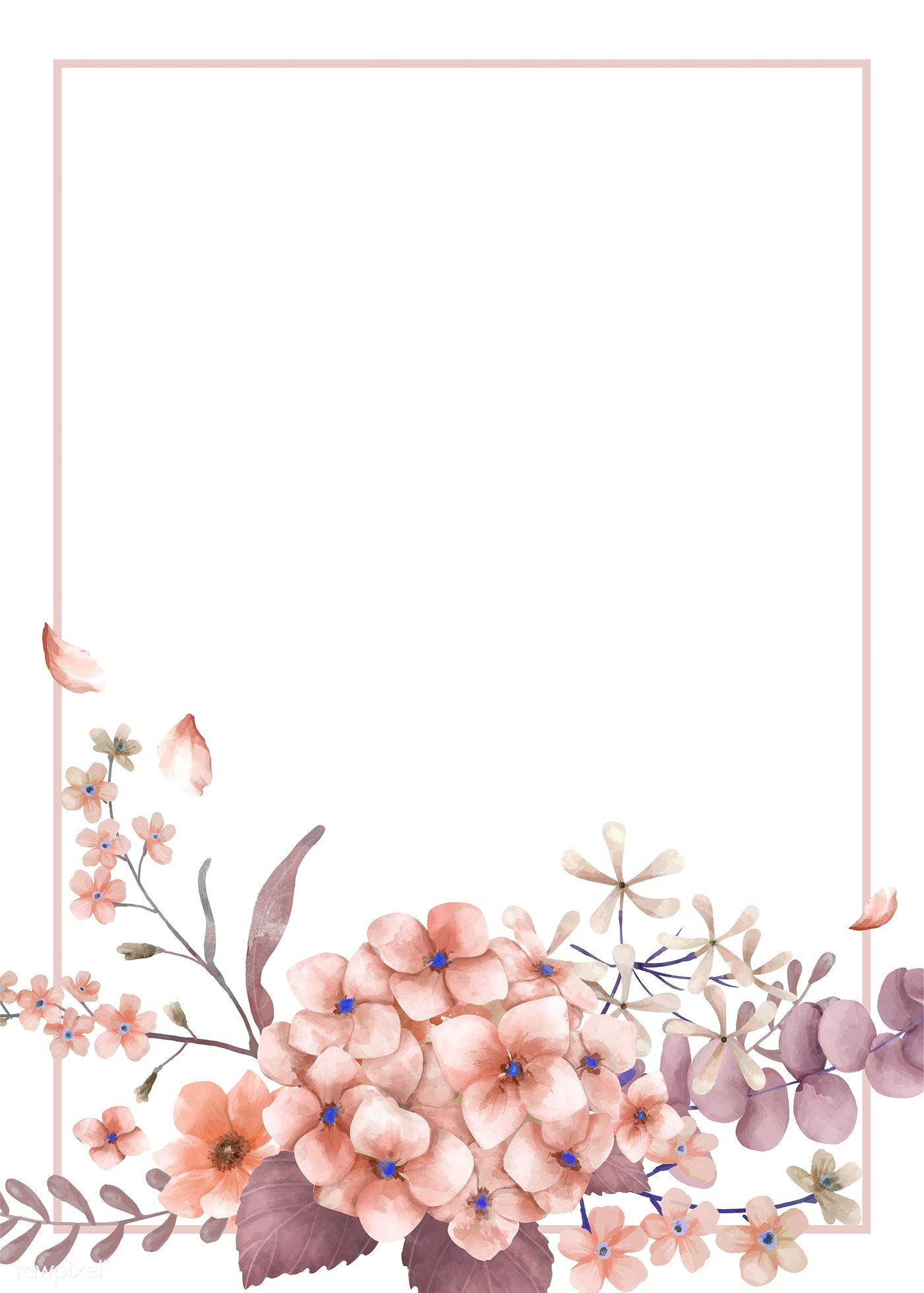 Download Premium Vector Of Greetings Card With Pink And Floral
