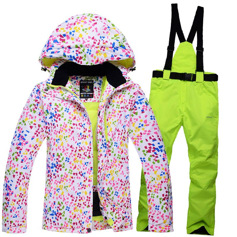 4066f359aa 14 kinds of colloca 4 sizes female waterproof windproof breathable  snowboard jacket+trousers winter skiing snowboarding sets