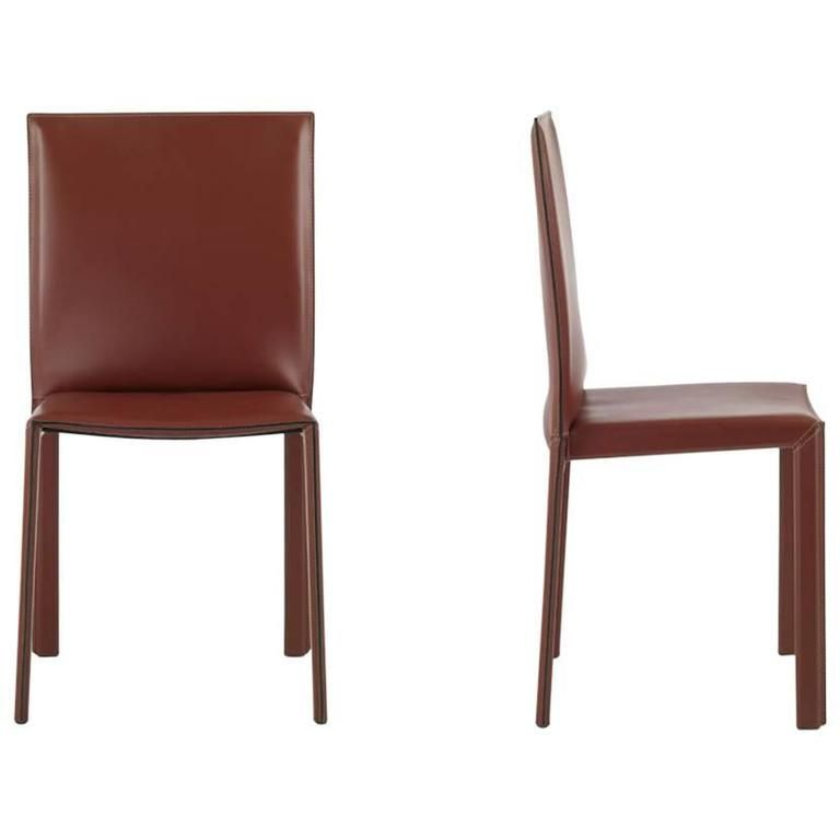 Italian Dining Leather Chairs With High Back Made In Italy