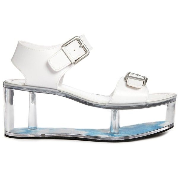 2ec23acd4448 YRU Qloud Athena Flatform Sandals with Transparent Sole ( 38) ❤ liked on  Polyvore featuring