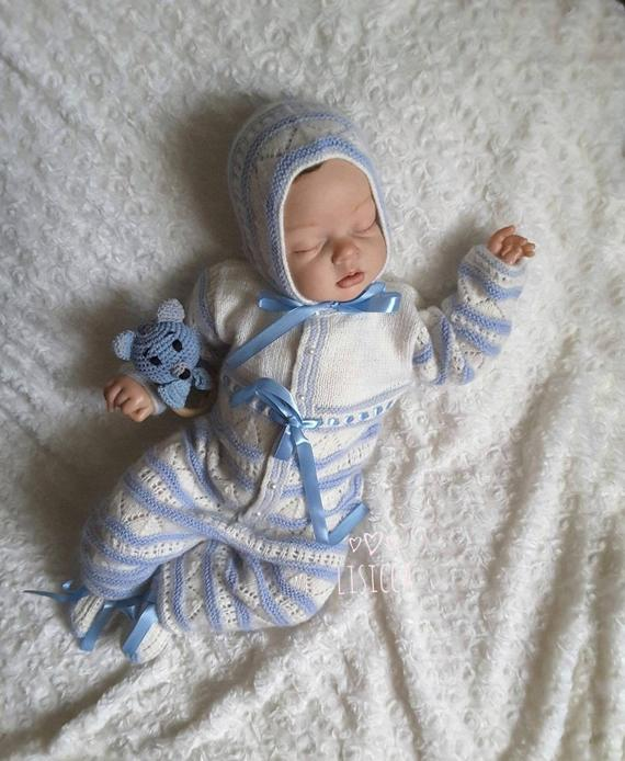 367b6a5331ff3 Knitted baby clothes Hand Knit Baby Set Knitted baby boy hat booties ...