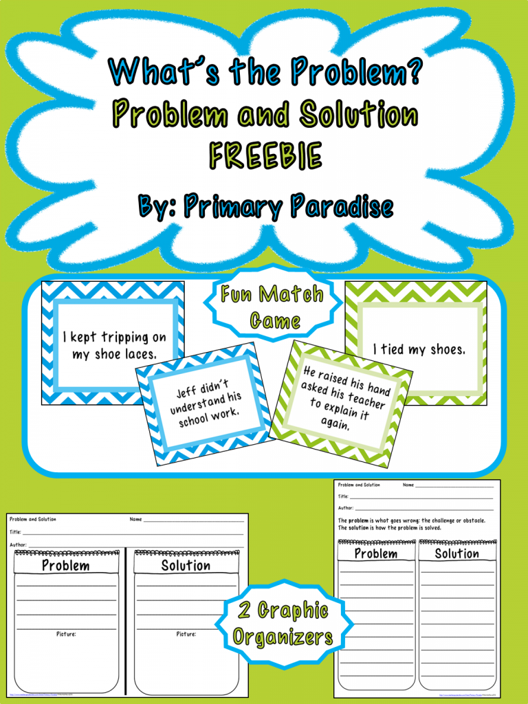 Worksheets Problem And Solution Worksheets whats your problem teaching and solution literacy solution