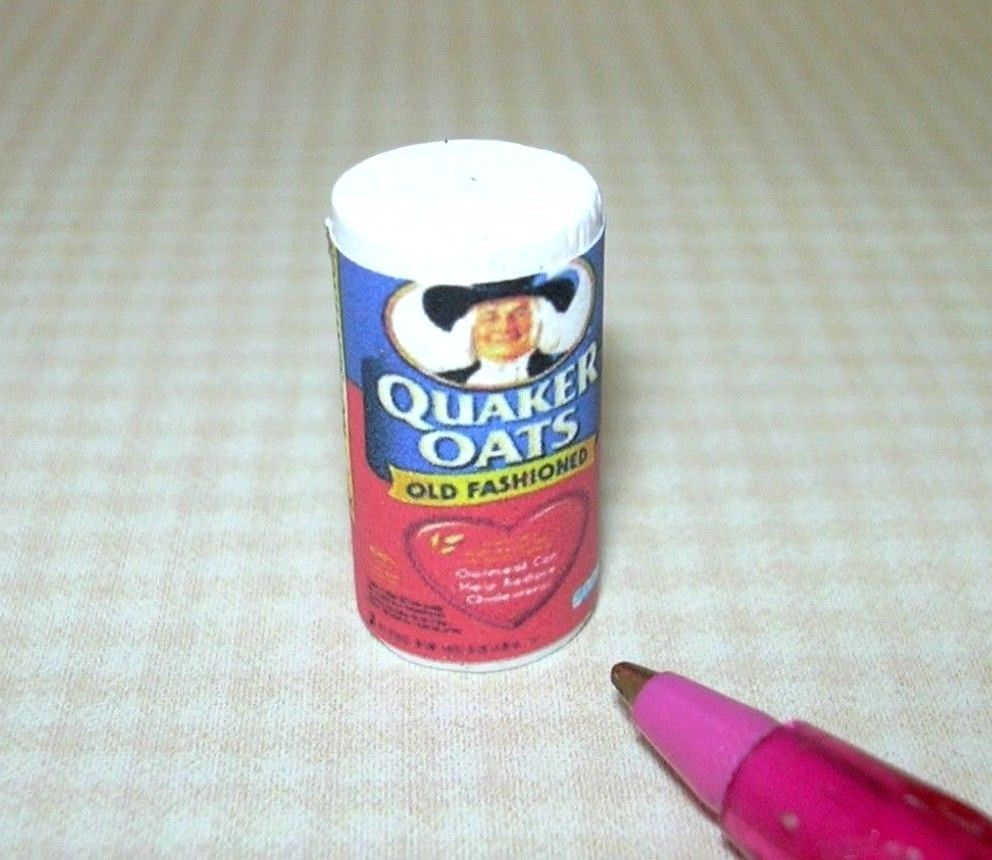 Miniature Cindi/'s Minis Oatmeal Canister for DOLLHOUSE Kitchen DOLLHOUSE 1:12
