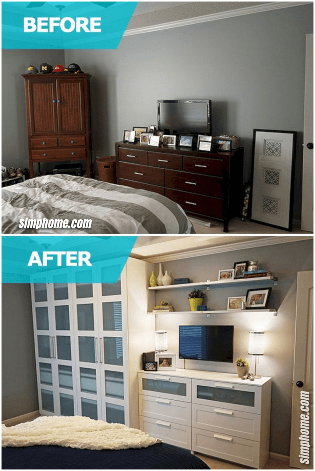 4 DIY Small Bedroom Storage Ideas in 4  Small double bedroom