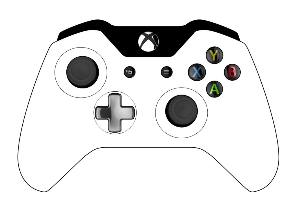 X Box Controller Template For Birthday Cake