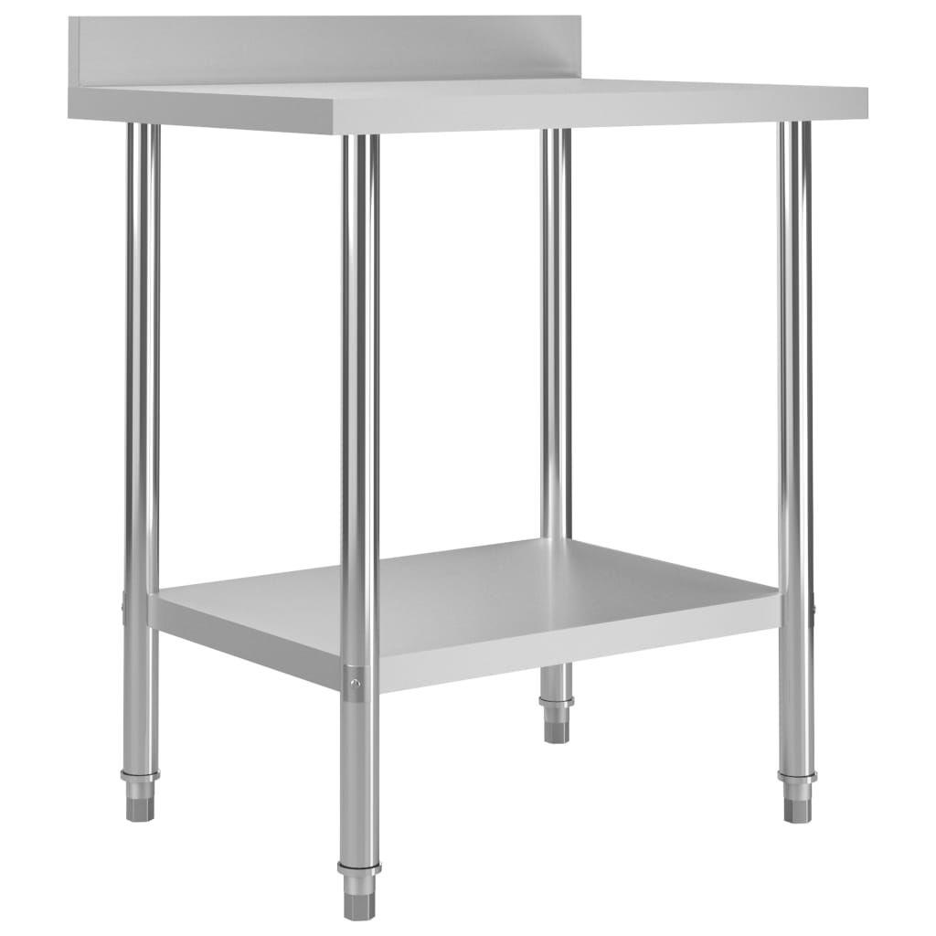 vidaXL Kitchen Work Table with Backsplash 31.5