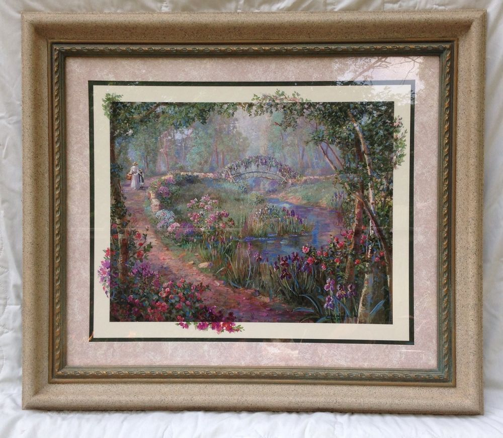 Large Homco/Home Interiors Framed Beautiful Floral