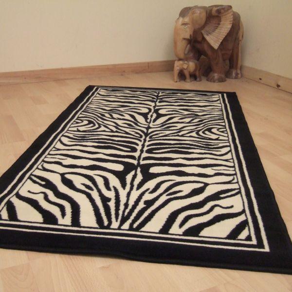 Zebra Animal Print Rugs 0635 0908 Black Online From The Rug Er Uk Belgian