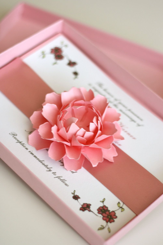 Elegant Grace Boxed Invitation | Invitaciones | Pinterest | Box ...