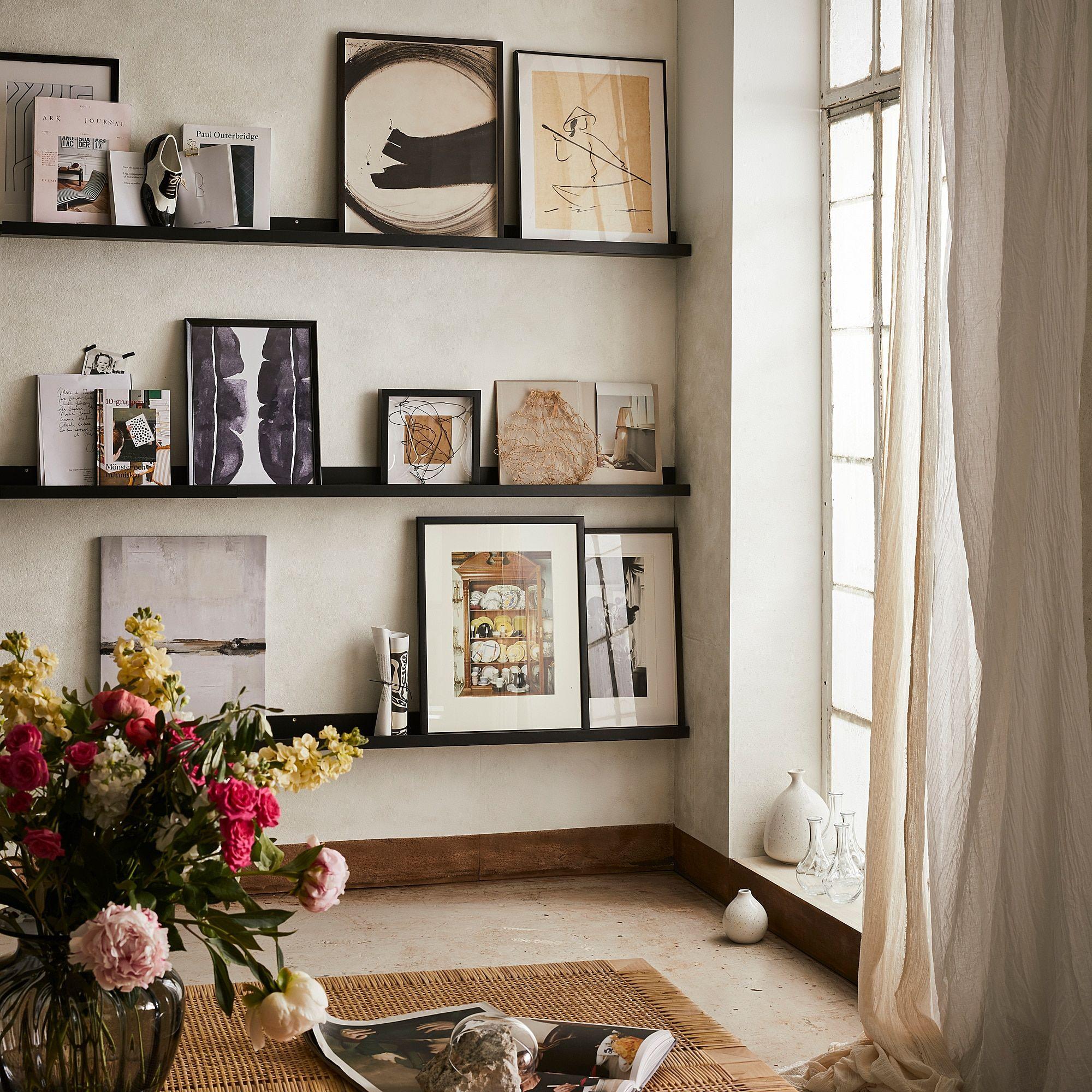MOSSLANDA Bilderleiste – schwarz 115 cm
