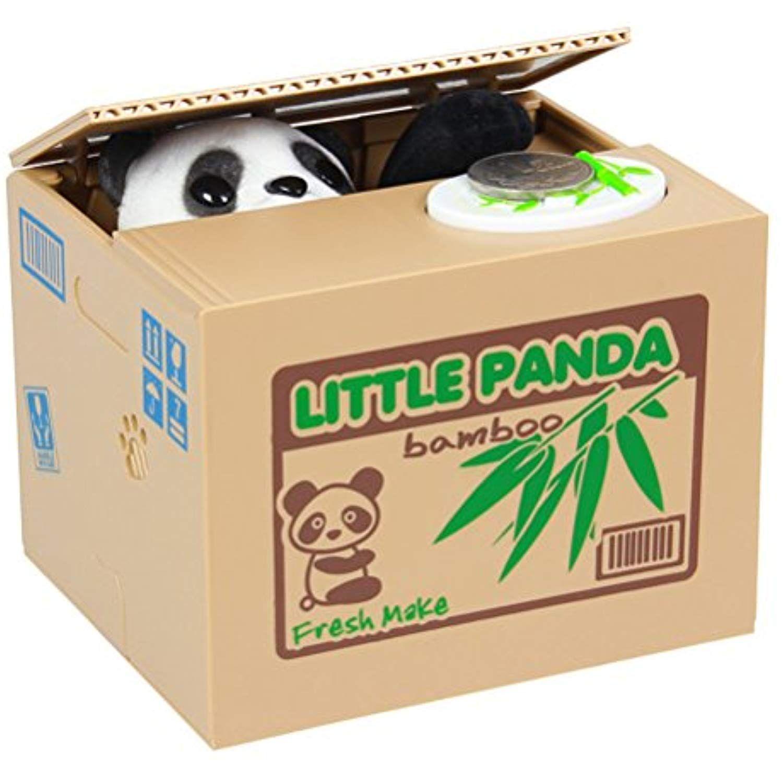 Liwuyou Stealing Panda Cent Coin Plastic Piggy Bank Money Saving Box Christmas Gifts For Kids Visit The Image Money Saving Box Piggy Bank Plastic Piggy Banks