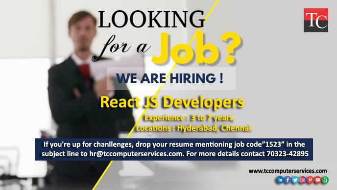 Reactjsdeveloper Reactjs React Native React Developerjobs Developer Reactnativedeveloper Jobshiring Chennai In 2020 Changing Jobs Job Seeker Job Opportunities