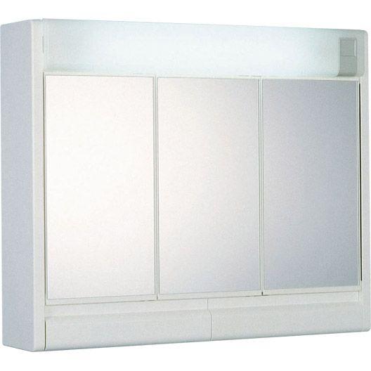Armoire De Toilette Lumineuse Rubin 60x51x16 Cm Miroir Conforama Armoire De Toilette Mobilier De Salon
