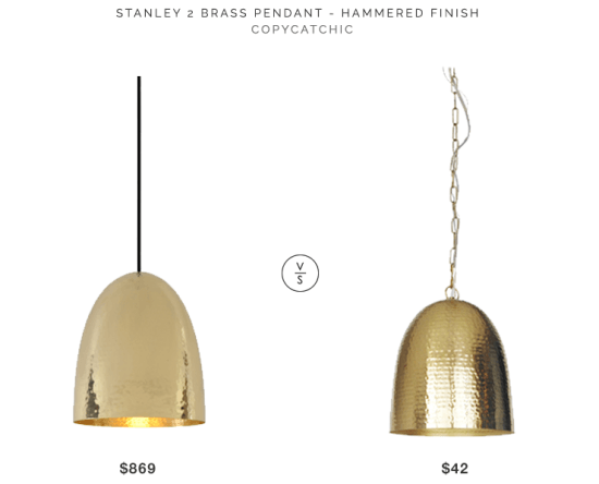 Beautiful Stanley 2 Brass Pendant Hammered $869 Vs Target Dom Hammered Metal Pendant  Light $42 Brass Hammered