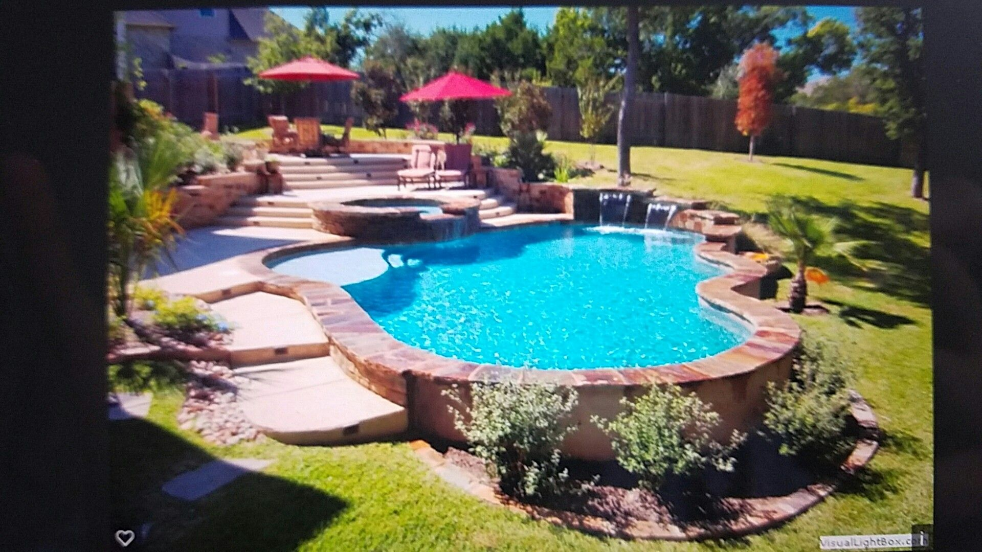 Pool Built Into Hill Backyard Pool Landscaping Landscaping Around Pool Pool Landscaping