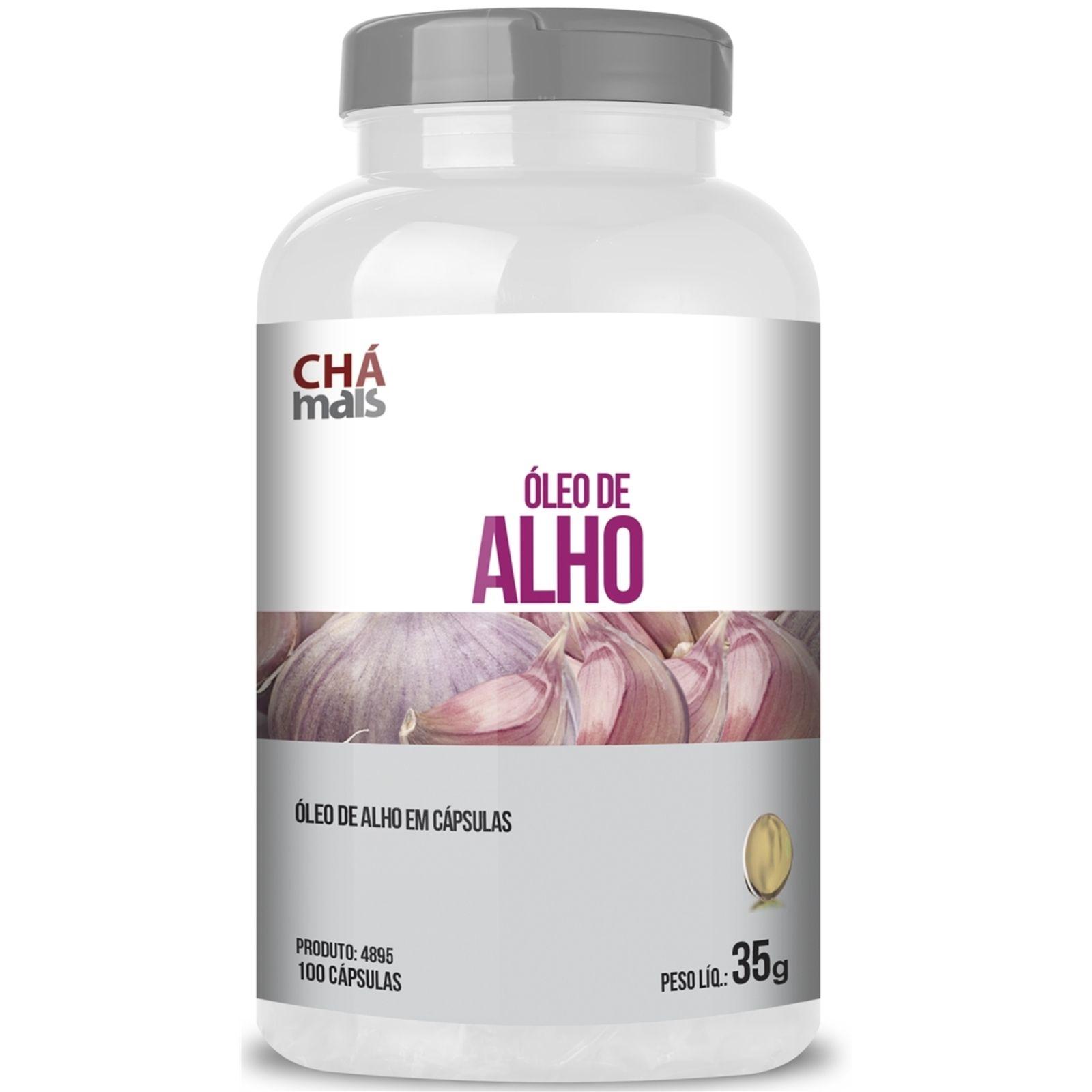 Oleo De Alho Cha Mais 100 Capsulas De 250mg Oleo De Alho