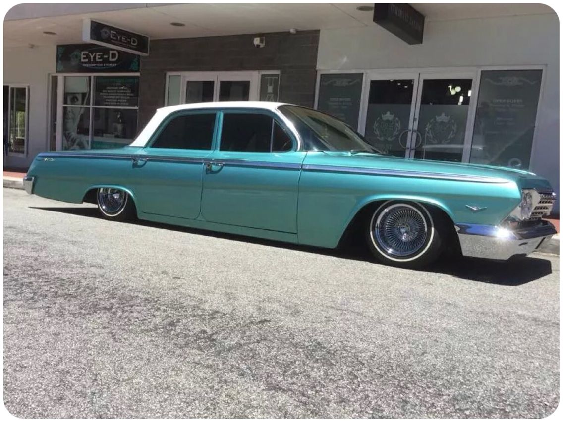 Marks Badass 62 Chevy Is Now Bagged On Its Guts It Is Livin The Lowlife Reppin Westcoastrides Carclu 1962 Chevy Impala Chevy Impala 1963 Chevy Impala