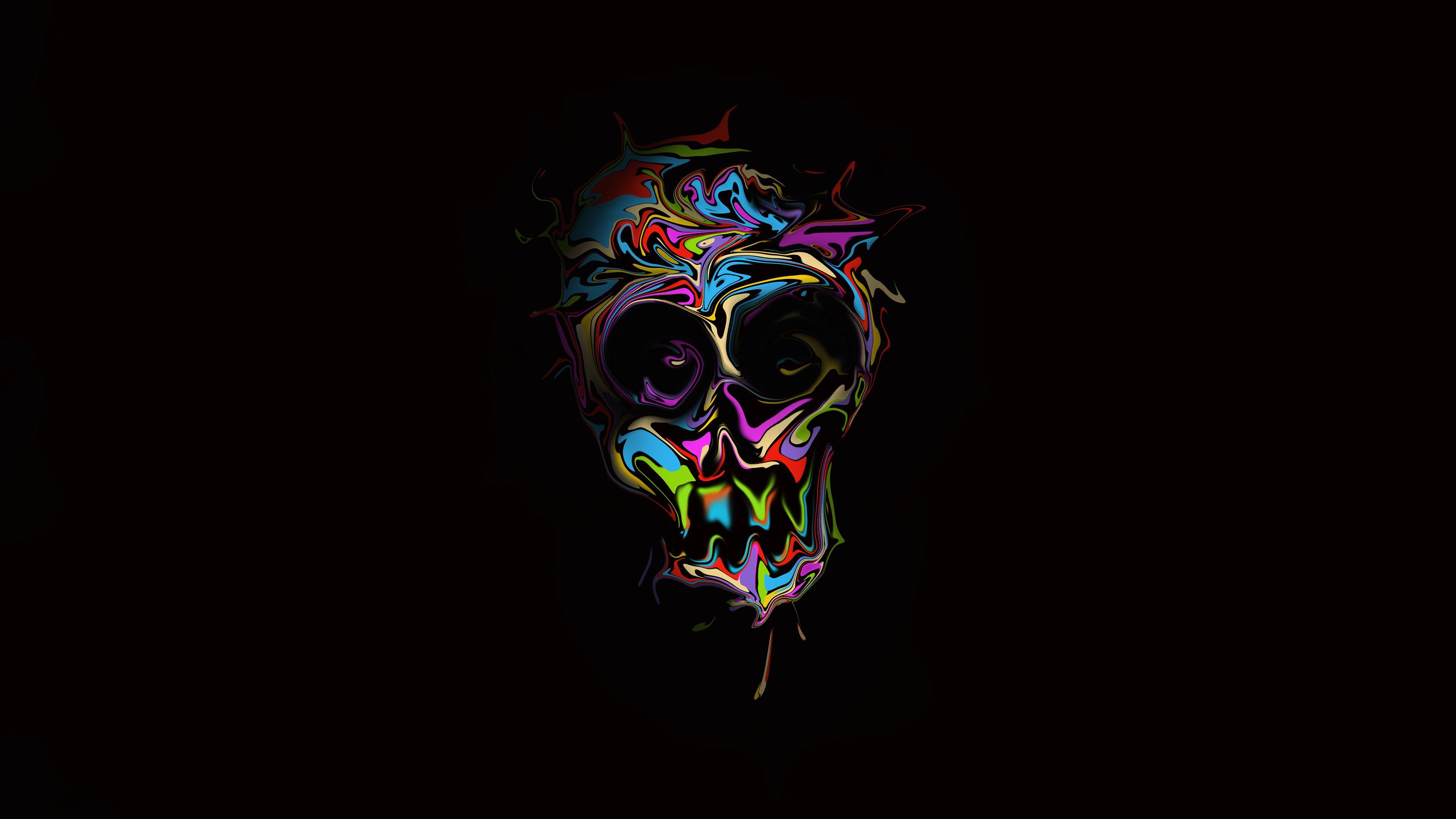 Colorful Skull Dark Art Skull Wallpapers Hd Wallpapers Digital Art Wallpapers Colorful Wallpapers Skull Wallpaper Desktop Wallpaper Black Artistic Wallpaper