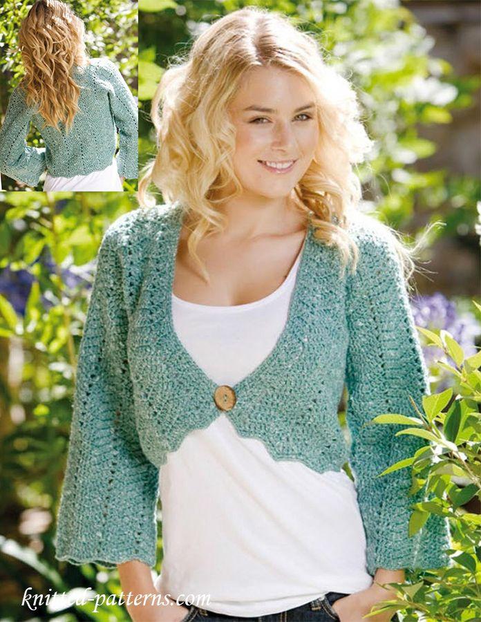 Bolero crochet pattern free | Free knitting patterns | Pinterest ...