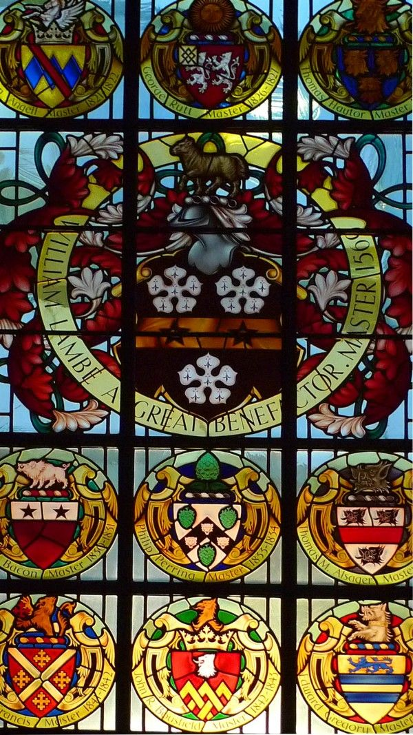 Stained glass window at the Clothworkers' Hall, London