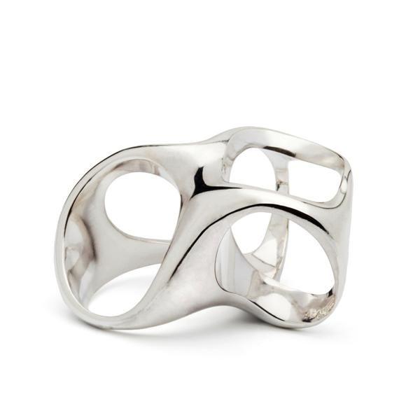 3-in-one ring. polished silver.Design Emquies-Holstein