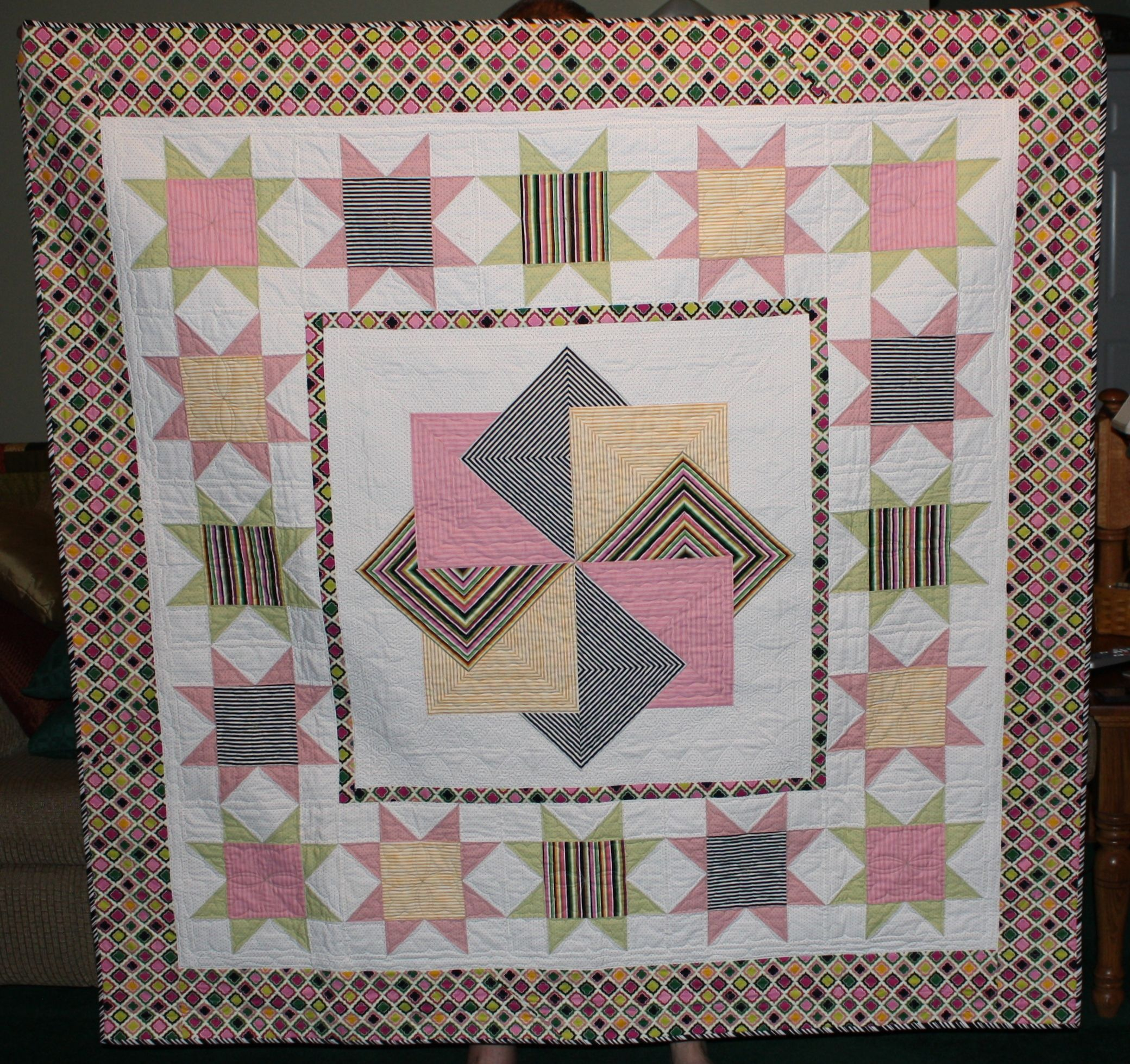this is an amish card trick quilt i made  quilt patterns