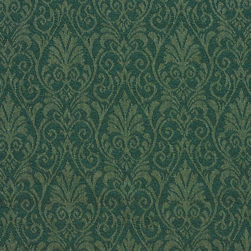 Hunter Green Small Floral Heirloom Damask Upholstery Fabric Dark Green Aesthetic Green Aesthetic Damask Upholstery Fabric