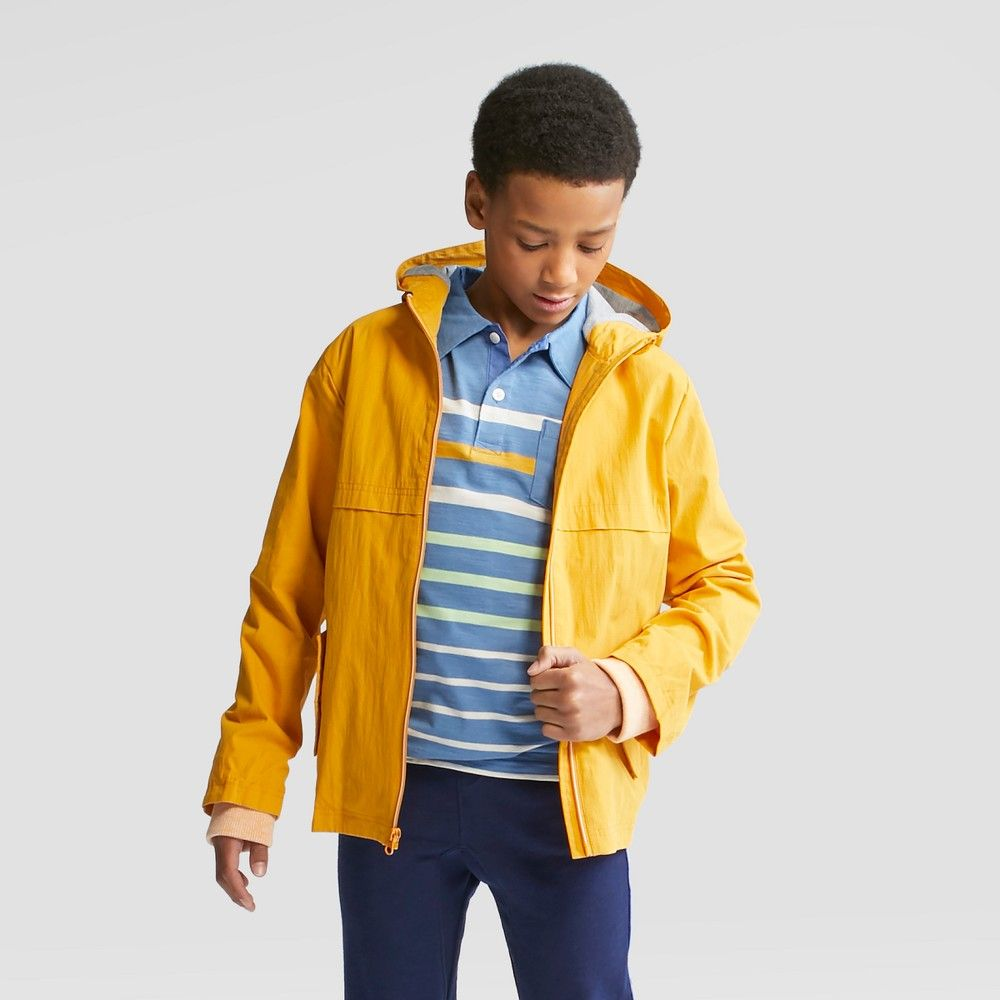 New Cat /& Jack Big Boys/' Long Sleeve Anorak Jacket Yellow M L