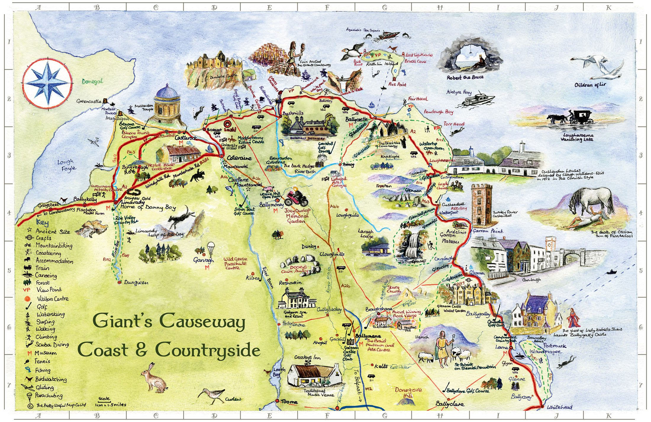Map Of Ireland Giants Causeway.Giant S Causeway Coast Countryside Map Ireland In 2019 Map