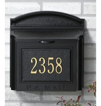 Whitehall Custom Wall Mount Mailbox with Removable Locking