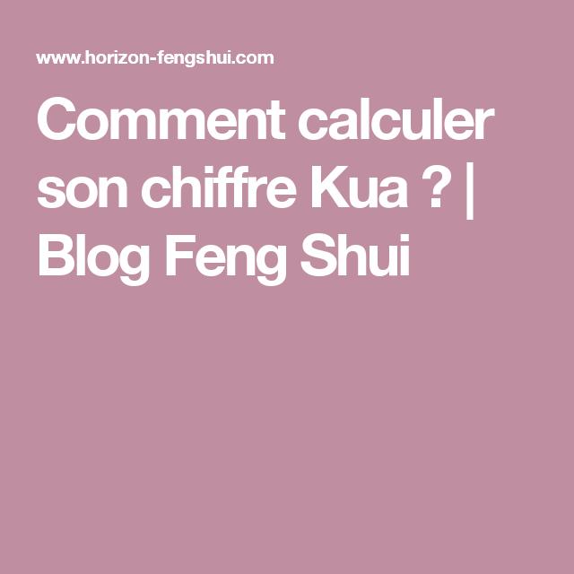 Comment calculer son chiffre Kua ? | Blog Feng Shui | Santé /Beauté ...