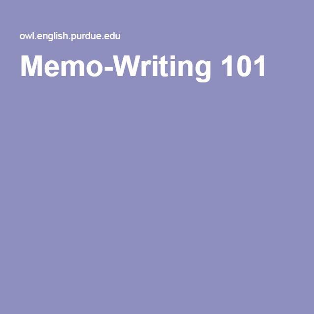 Purdue Owl Memo Writing Memo Examples Memo Format