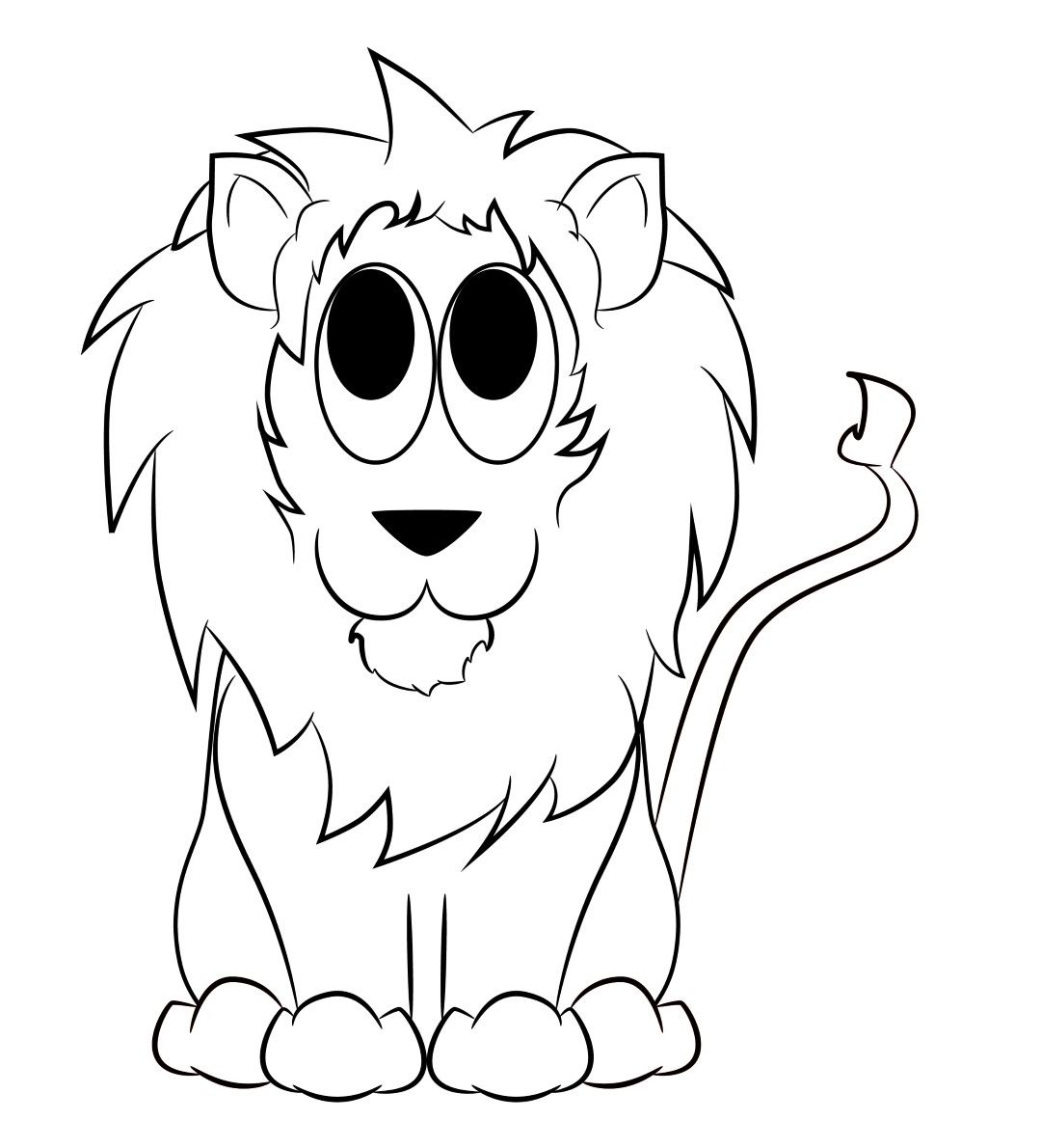 how to draw a lions head
