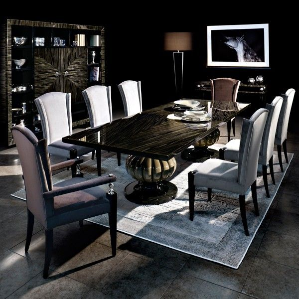 Dining Room Table Size For 10 Interesting Capital Decor  Kemp Dining Table  Statement Classic Dining Design Inspiration