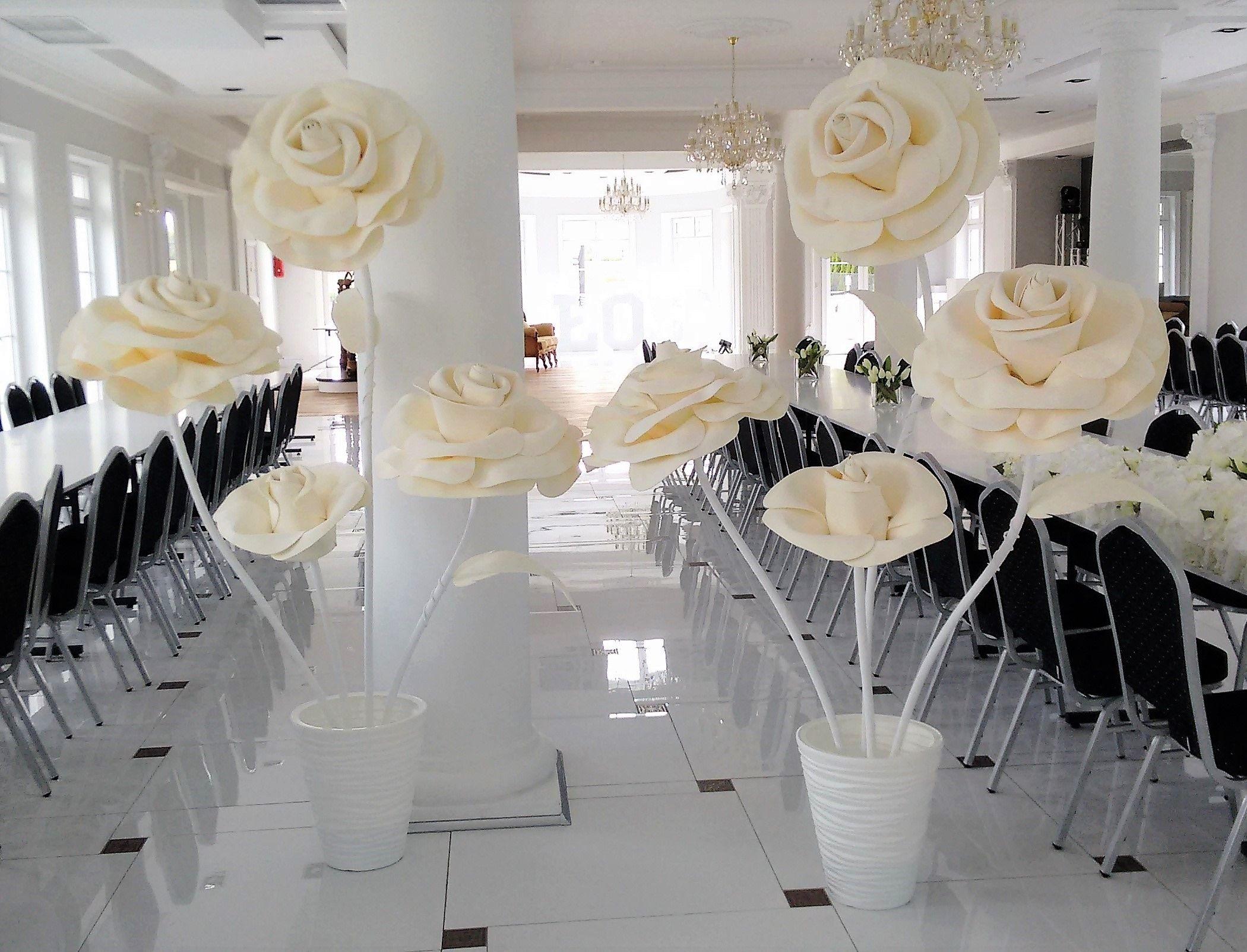 Giant Flowers Kwiaty Giganty Wielkie Kwiaty Crepe Flowers Giant Flowers Wedding Decorations Table Decorations