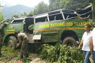 3 Dead 41 Injured in Sikkim Bus Accident Today SNT Bus No SK 01 B