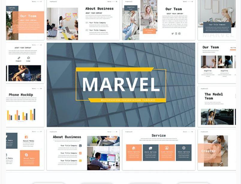 Marvel Business Multipurpose Powerpoint Template Powerpoint Templates Powerpoint Free Web Fonts