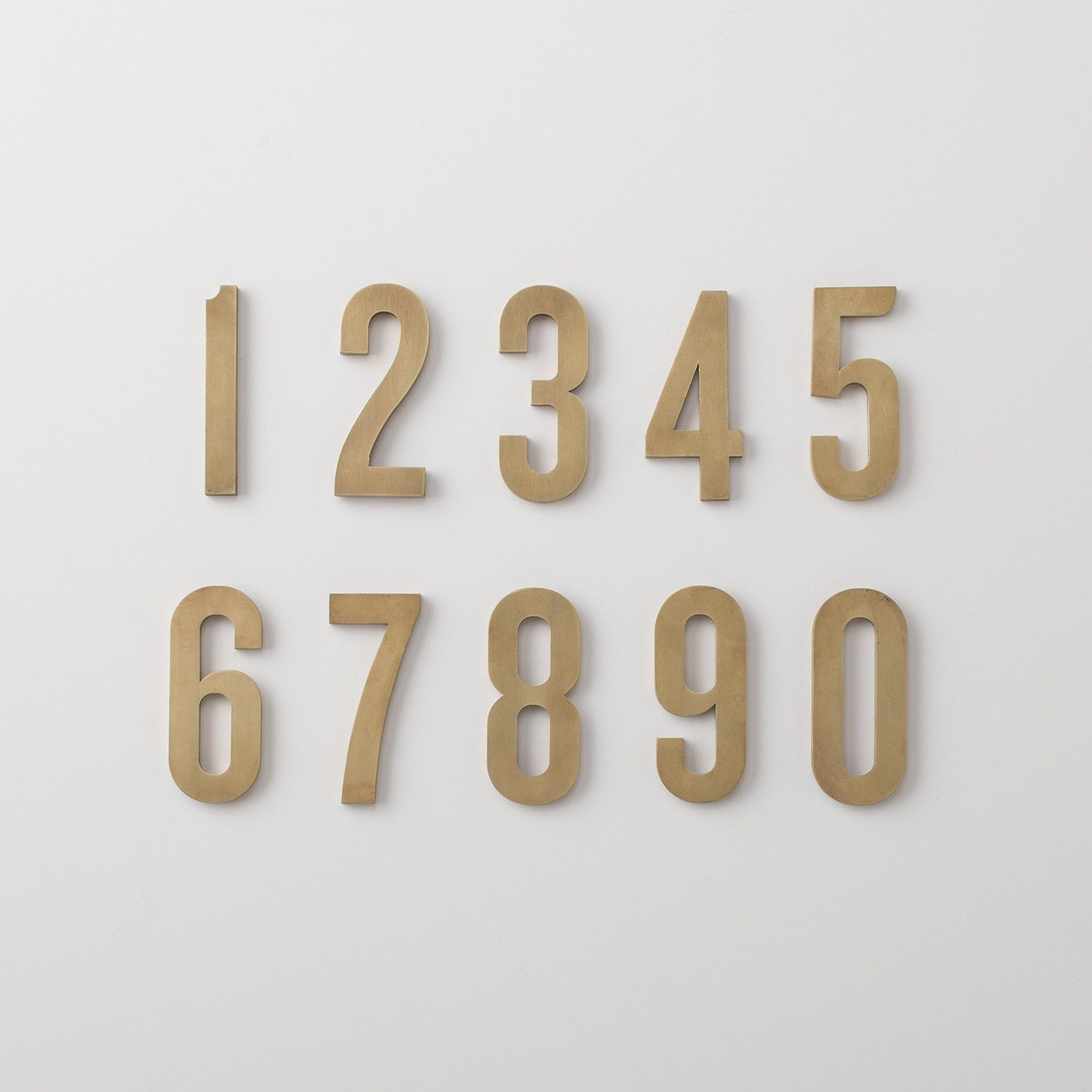 Schoolhouse Magnetic Numbers Natural Brass House Numbers Numbers Steel Planters
