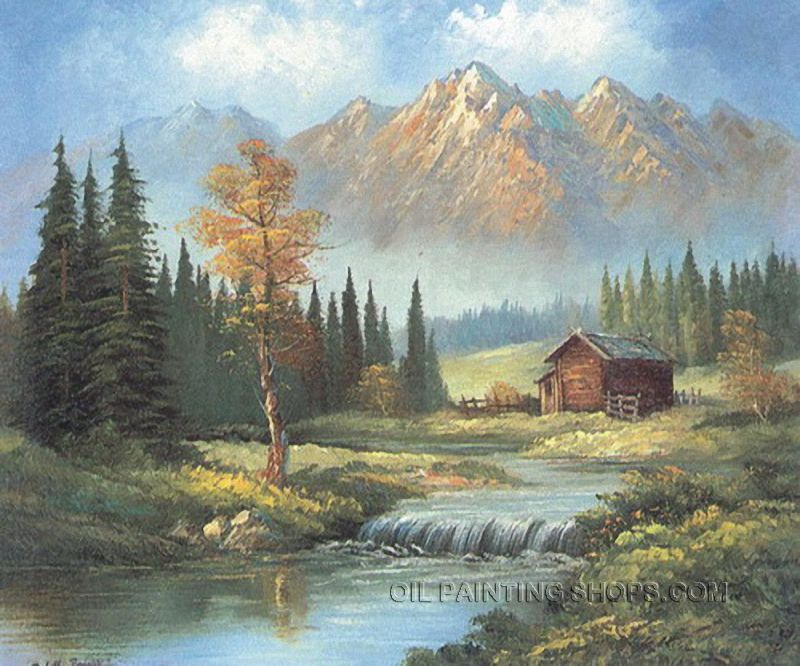 BeautifulScene Wholesale Oil Painting Reproduction Urban Landscape Painting  Mountain, Size: 40