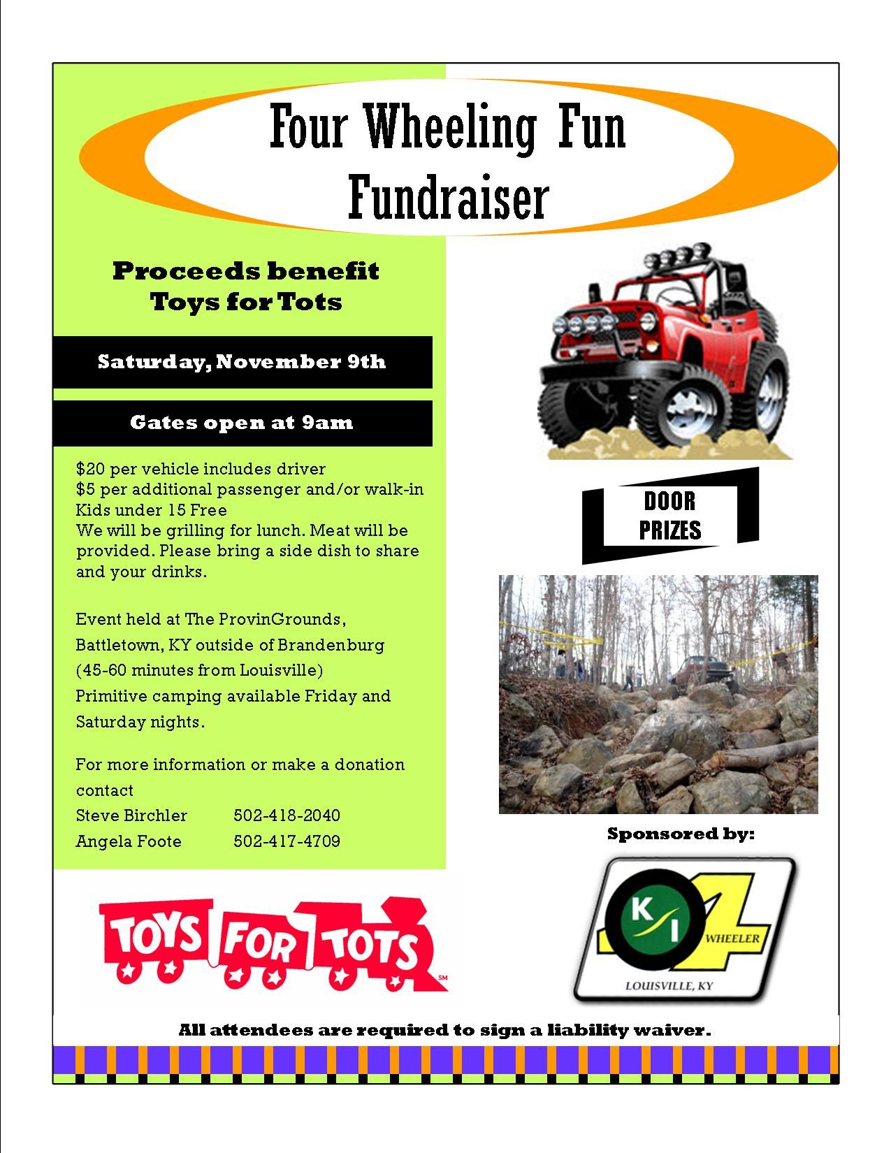 2013 Four Wheel Fundraiser For Toys For Tots Four