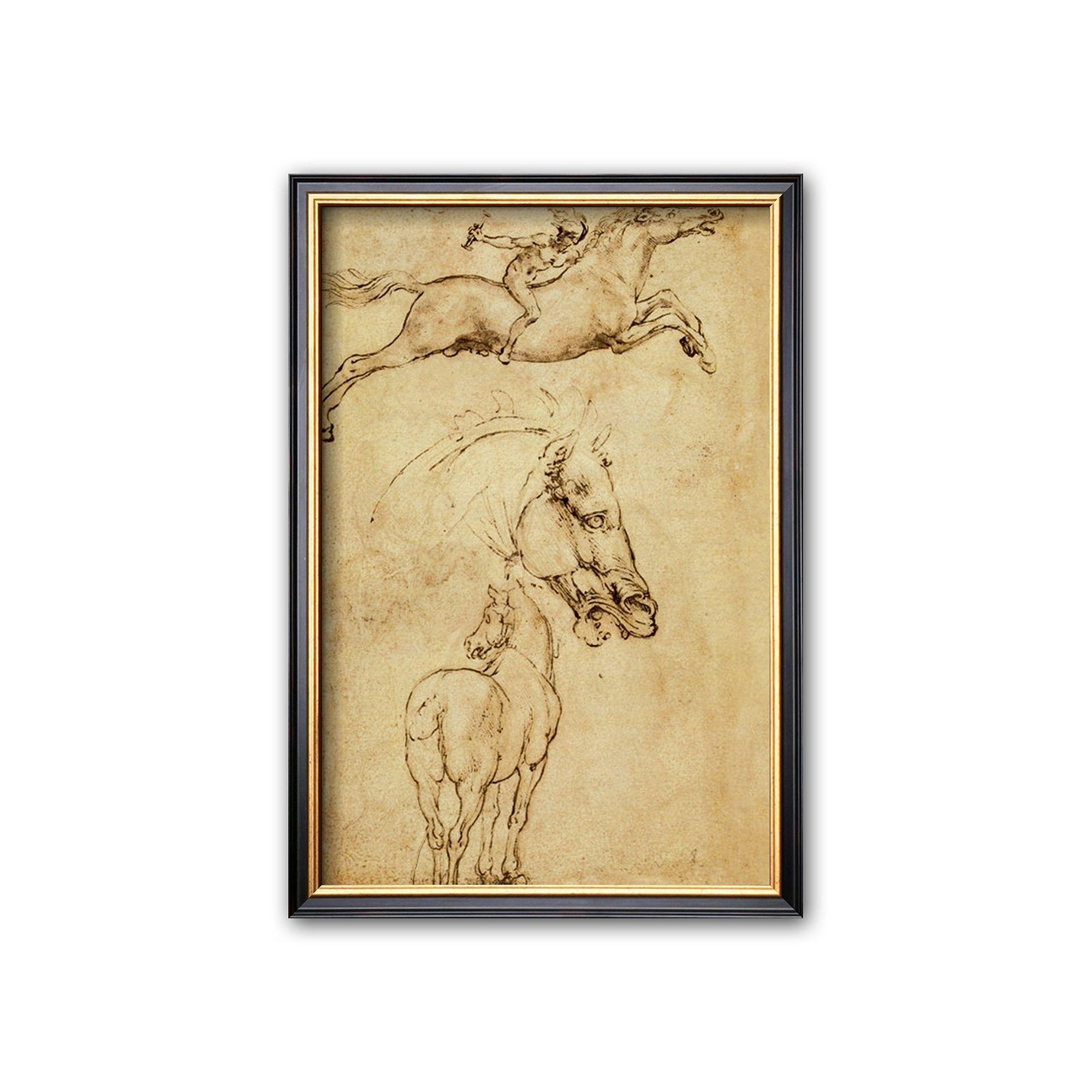 Amazing Da Vinci Wall Art Sketch - Wall Art Collections ...