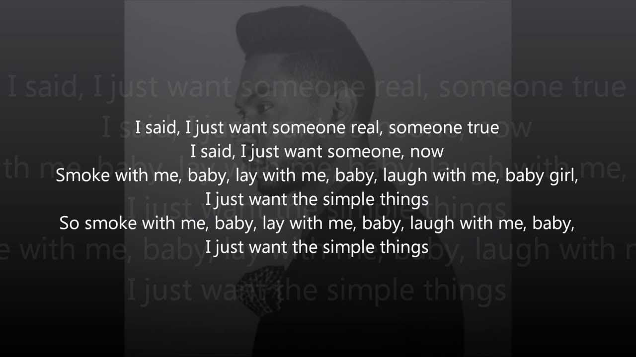 Miguel - Simple Things (Lyrics) great song, love it | Quotes